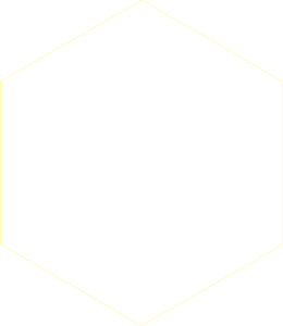Hexagon weiß