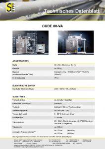 Technisches Datenblatt CUBE80-VA
