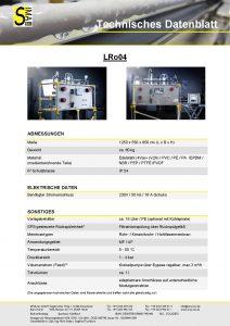 Technisches Datenblatt LRo04
