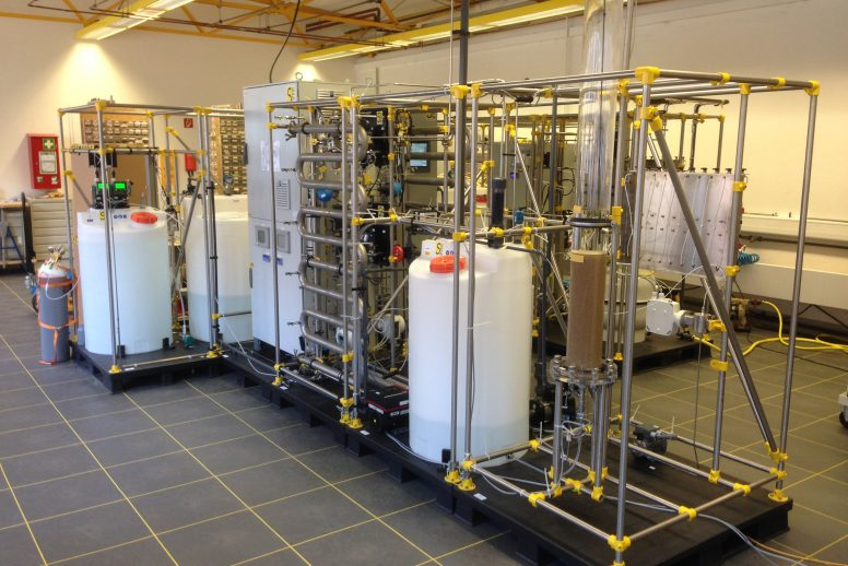 Pilot plant for investigation  of several drinking water treatment processes