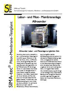 Labor- und Pilotanlage Allrounder