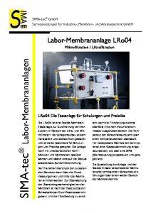 Laboranlage LRo04