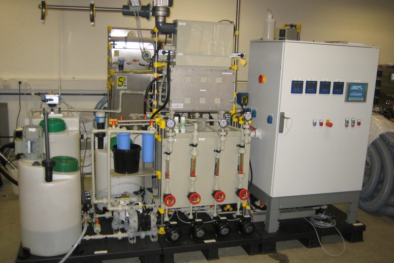 Pilot Plant for Heavy Metal Recovery via Membrane Electrolysis