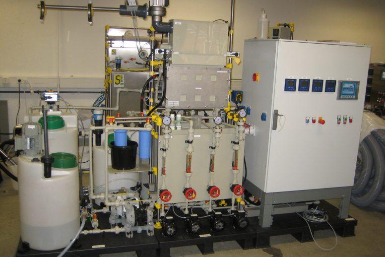 Pilotanlage zur Nickelrückgewinnung durch Membranelektrolyse
