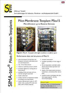 Pilot Testunit PSta15