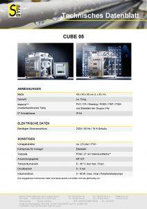 Technisches Datenblatt CUBE05
