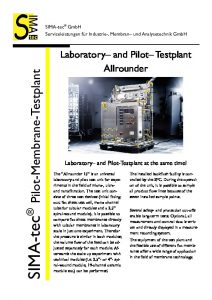 Laboratory and Pilot Testunit – Allrounder 15