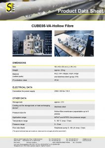 Data Sheet CUBE05-VA Hollow Fibre