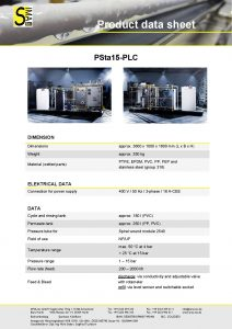 Data Sheet PSta15-PLC