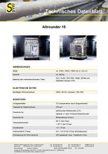 Technisches Datenblatt Allrounder