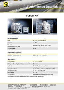 Technisches Datenblatt CUBE05-VA