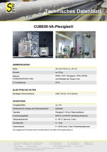 Technisches Datenblatt CUBE05-VA Plexiglas®