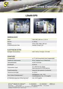 Technisches Datenblatt LSta80-SPS