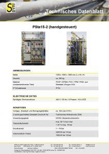Technisches Datenblatt PSta15-2 (handgesteuert)