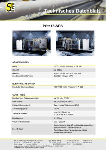 Technisches Datenblatt PSta15-SPS