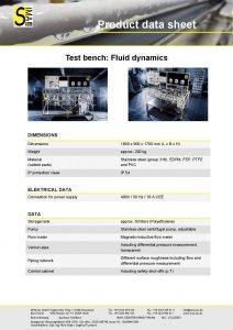 Data Sheet Test bench: Fluid dynamics