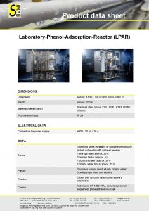 Data Sheet Laboratory-Phenol-Adsorption-Reactor (LPAR)