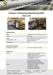 Technisches Datenblatt Oxidative Trinkwasseraufbereitung