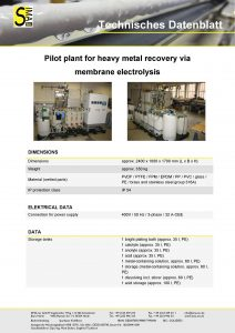DS Heavy metal recovery via membrane electrolysis