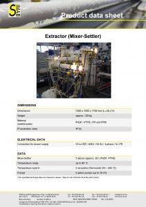 Data Sheet Extraction (Mixer-Settler)