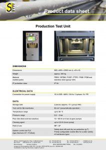 Data Sheet Production test unit
