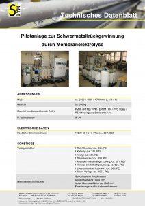 TD Schwermetall Rückgewinnung durch Membranelektrolyse